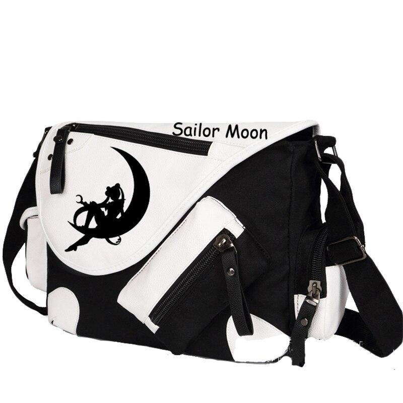 New Fashion Sailor Moon Men Women Messenger Bag Luna Printing Animation Shoulder Bags School Book Bag