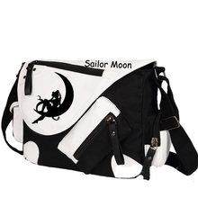 New Fashion Sailor Moon Men Women Messenger Bag Luna Printing Animation Shoulder Bags School Book Bag