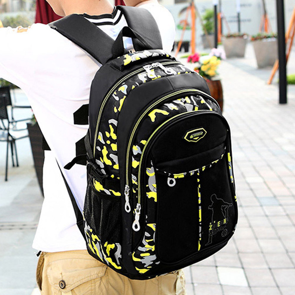 Fashion Nylon School Bags For Boys Brand Men's Backpack Orthopedic School Backpack Teenagers Backpacks Kids Book Bag Mochila