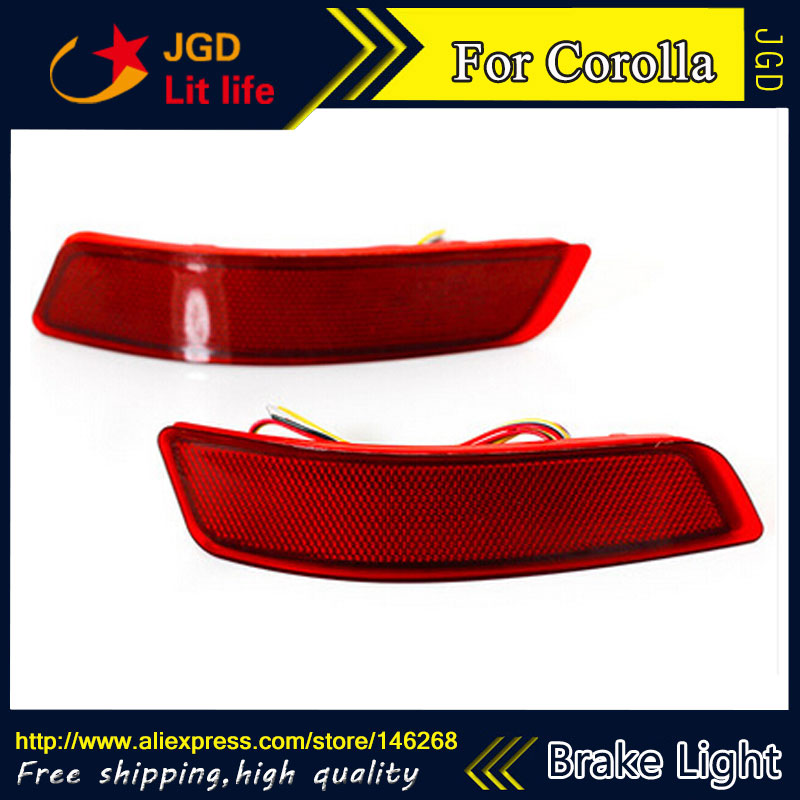 Free shipping New 2016 Tail light parking warning rear bumper reflector for Toyota Corolla 2014 2015 Car styling