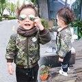 2017 Primavera Outono Meninos Jaqueta Para Crianças Crianças Camuflagem Jaqueta e Outwear Casaco Casaco Acolchoado Crianças Jaqueta Meninos Roupas Dos Desenhos Animados