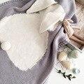 Бесплатная доставка 100*130 см Плед новый взрыв кроличьи уши детская хлопок вязаный одеяло бросить beddingsofa/воздуха мантас одеяла