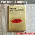 Venta caliente de la batería nota 3 b800be batería de reemplazo de oro para samsung galaxy note3 n9006 n9002 n9005 n9008 n909 batería