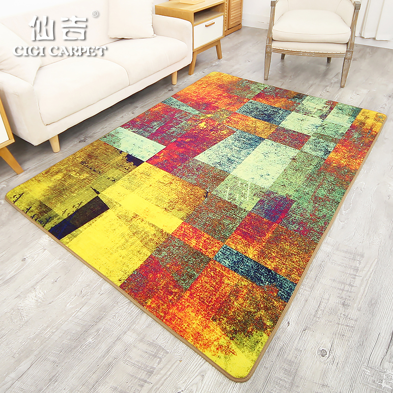 CIGI Modern Abstract Carpet Rectangular Bedroom Living Room Linter Rug High Quality Floor Washable Anti Skid Mat