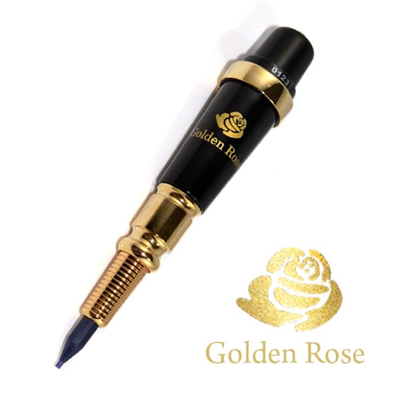 Free shipping 1Set Taiwan Original USA Giant Sun Golden Rose Tattoo Machine Permanent Makeup machine for Eyebrow Lip Tattoo Gun permanent makeup rotary tattoo machine tattoo gun for learner use