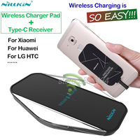 Nillkin Type C Receiver Qi Wireless Charger Portable Wireless Charger Pad For Xiaomi Mi5 Mi5s Meizu
