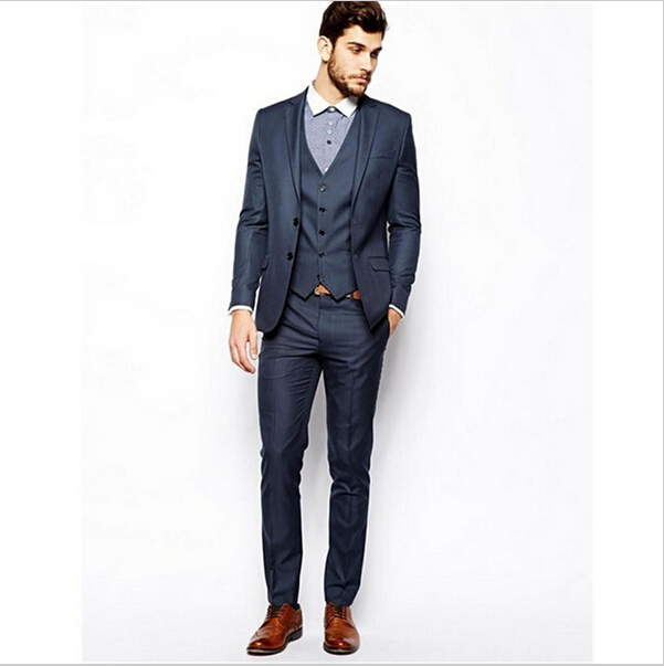 Trajes De Novio 2016 Hombre Custom Made Slim Fit Suits For Men ...