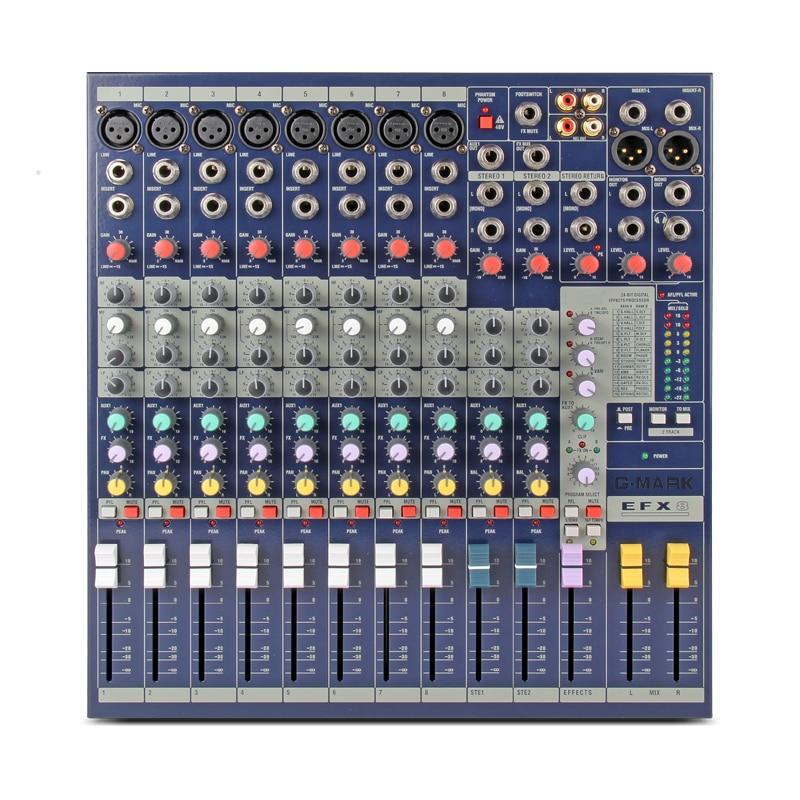 G-MARK EFX8 Suono Audio Mixer Console di Effetti Digitali 24 Bit del Processore Dsp Camera Piastra di Registrazione Audio DJ Sistema di Miscelazione
