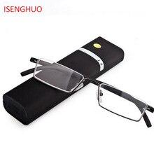 ISENGHUO TR-90 Metade Óculos de Armação de Metal Fino Portátil Compacto  Anti Fadiga Ocular 14d96d08e7