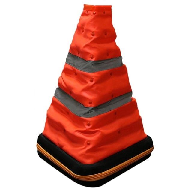 new foldable triangle emergency warning road flasher warning