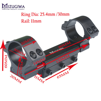 Mizugiwa Een Stuk Luchtbuks Mount Ring 25.4 Mm/30 Mm W/Stop Pin Adapter 11 Mm Ris Picatinny Rail Zwaluwstaart Weaver Pistol Luchtdruk Rifle