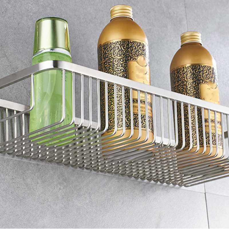 30Cm ścienny jeden poziom, półka łazienkowa szampon kosz do przechowywania zwieszony kosz pojemnik ze stali nierdzewnej zwieszony kosz
