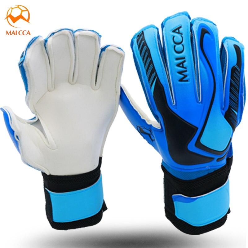 Newest Kids Football Gloves Latex Goalkeeper Gloves Soccer Goal Keeper Kit Goalie Training Gloves With Fingersaves Protection