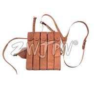 WWII US AMRY THOMPSON CHEST RIG MAGAZINE 5 CELL LEATHER MAGAZINE AMMO POUCH US 104110
