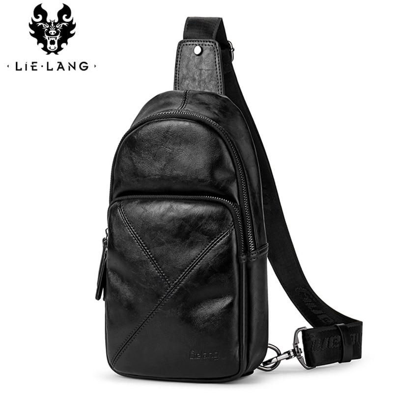 Messenger-Bag Crossbody-Bag Simple-Design High-Quality Fashion Brand PU Men Classic Male