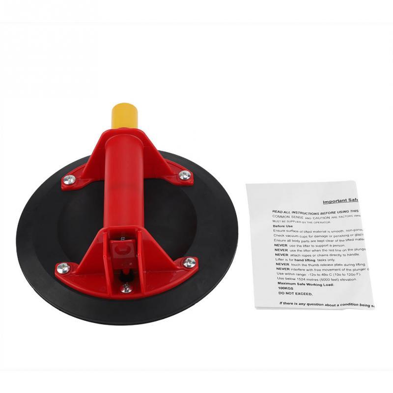 8 дюйм(ов) вакуумной присоской ручной насос Нержавеющаясталь одной ручкой присоски для подъема Стекло Handmatige помпой бомба руководство