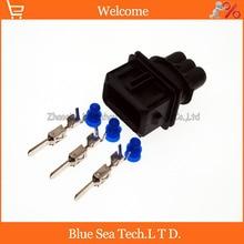 10 компл. 3 Pin 3.5 мм мужской топливная форсунка разъем/разъем форсунки нефть/Дроссельной Заслонки разъем для Bosch разъем