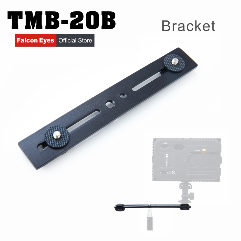Falcon EyesTMB-20B Camera Flash Bracket Light Stand Mount Holder with two Hot Shoe for Universal flash Photo Studio Accessories