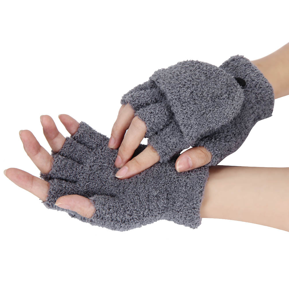 Winter Finger less Gloves Hand//Wrist Warmer ladies winter gloves With Fur New WT