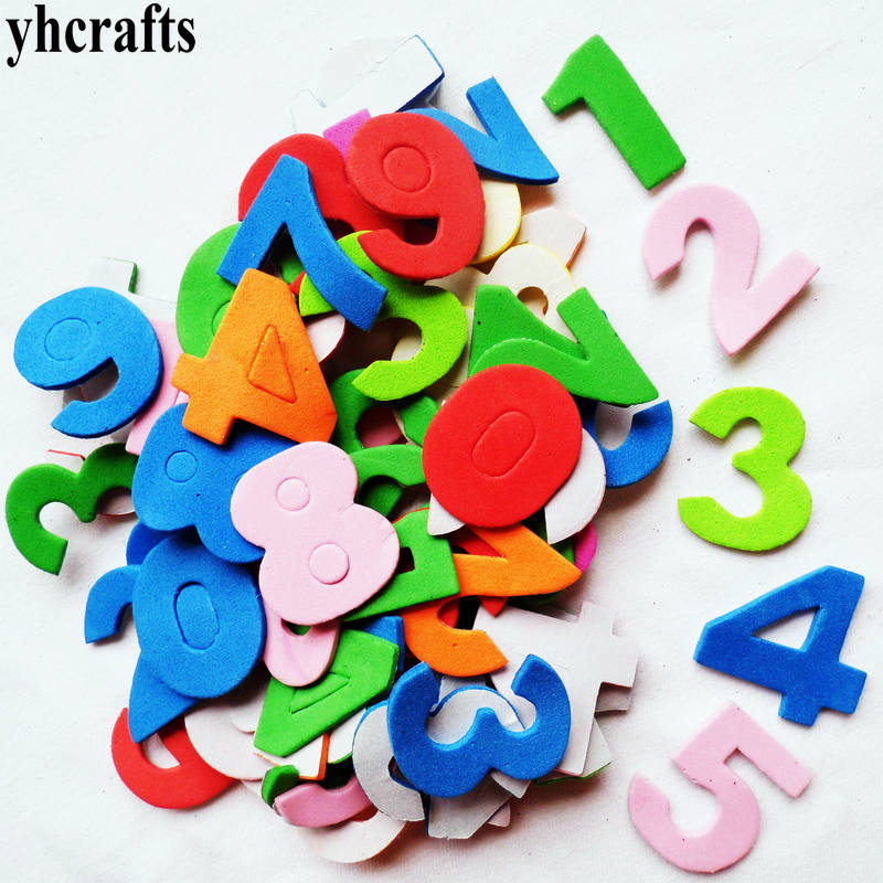475PCS 5bags LOT 0 9 numbers foam stickers Self learning Teach your own Early learning educational