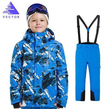 Kids Winter Ski Sets Children Snow Suit Coats Ski Suit Outdoor Boys Skiing Snowboarding Clothing Waterproof Jacket Pants gsou snow 2017 women skiing suit winter ski sports outdoor snowboard pants jackets snowboarding jacket snow wear ski jacket sets