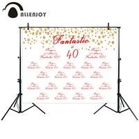 Allenjoy fotografische achtergrond Golden spots verjaardag custom rood wit LOGO party nieuwe achtergrond photocall photo gedrukt custom