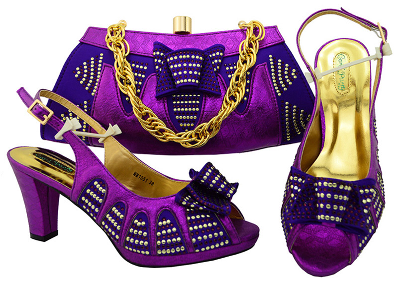 Shoes and Bag Set for Women Summer African Style Shoes and Bag Set Italy Fashion High Quality shoes and bag MM1051 african desgin rhinestone high heel shoes and bag set for new summer style elegant shoes and bag sets free shipping mm10381