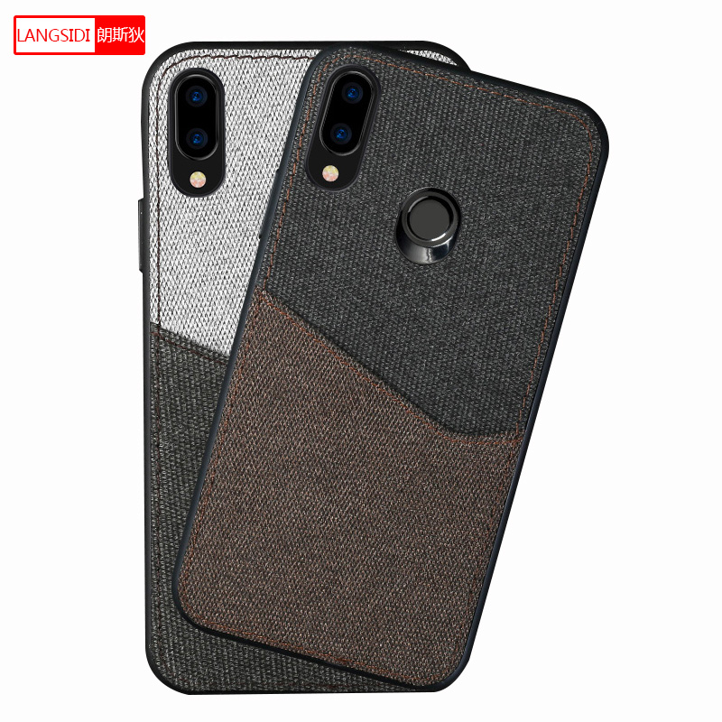 Men business Magnetic case for Huawei p30 Nova 3 2s 4 mate10 Lite back cover card Slot protective case for huawei honor 20 20pro