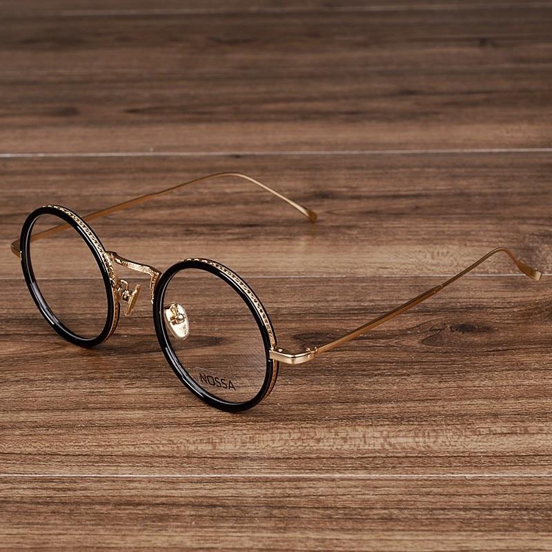 NOSSA мода дамски и мъжки кръгли очила женски елегантни прозрачни очила старинни розово злато оптични очила рамки за очила