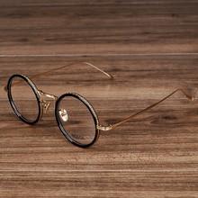 NOSSA Fashion Women & Men's Round Glasses Female Elegant Transparent Eyewear Vintage Rose Gold Optical Glasses Spectacle Frames
