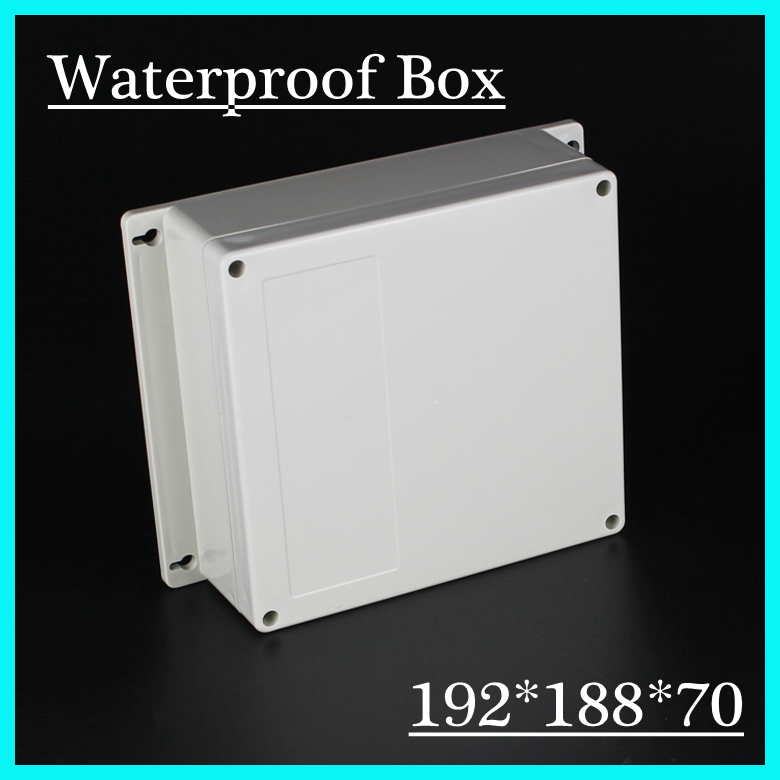 (1 piece/lot) 192*188*70mm Grey ABS Plastic IP65 Waterproof Enclosure PVC Junction Box Electronic Project Instrument Case 1 piece lot 320x240x110mm grey abs plastic ip65 waterproof enclosure pvc junction box electronic project instrument case