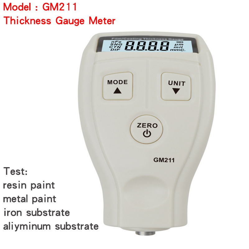 GM211 2in1 Film Coating Thickness Gauge Meter 0~1500um Non-magnetic Surface Paint Coatings Thickness Measurement can metal Paint coated coating thickness measurement paint coating auto car film paint thickness gauge automotive metal surface paint tester