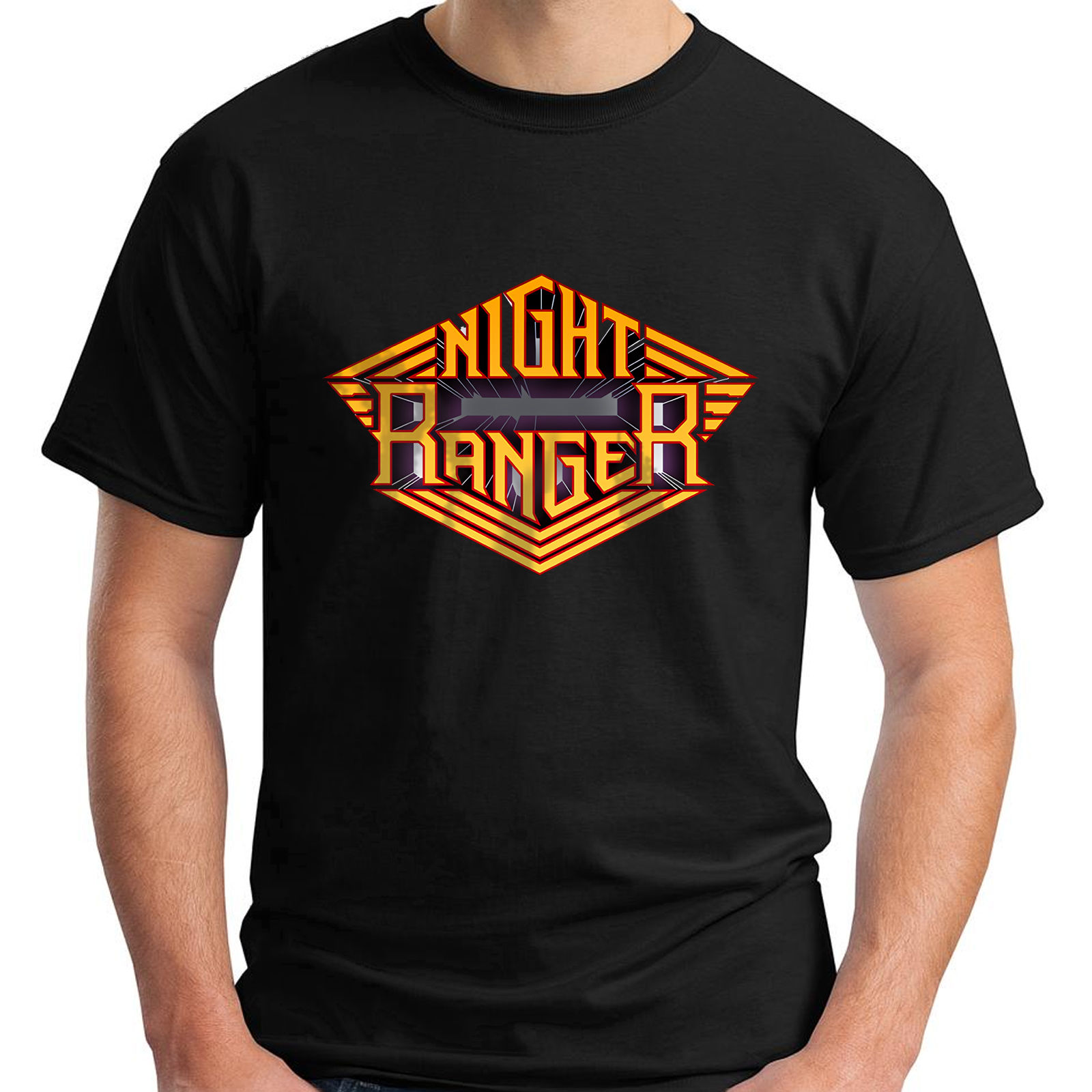 night ranger hard rock band rubicon damn yankees black men 39 s t shirt size s 5xl in t shirts. Black Bedroom Furniture Sets. Home Design Ideas