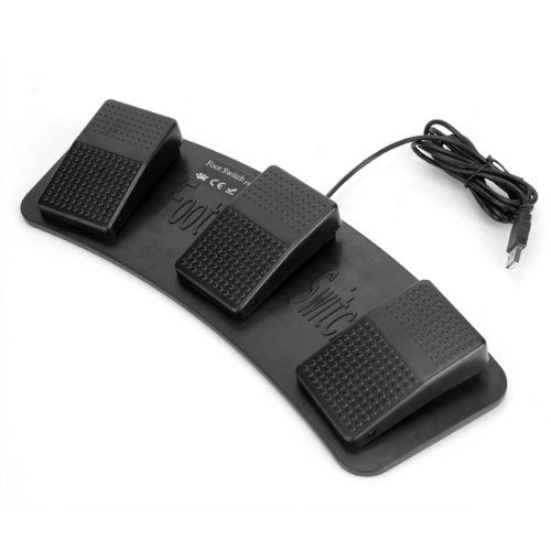 New Style FS3-P USB Triple Foot Switch Pedal Control Keyboard Mouse Plastic  цена