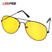 LEEPEE Copper Alloy Car Drivers Night Vision Goggles Polarized Driving Glasses Anti-glare