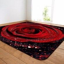 3D романтические ковры с розами, большие коврики для гостиной, мягкие Фланелевые домашние декоративные ковры на День святого Валентина и ковры для гостиной