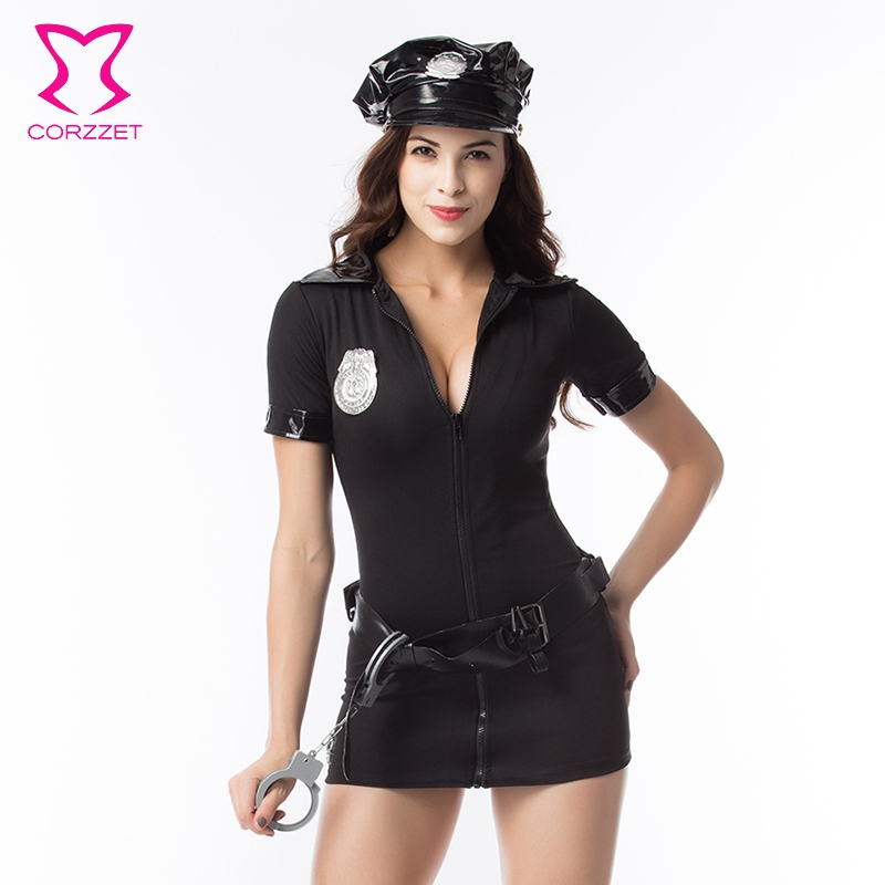 Dames cosplay politie Kostuum Dames Volwassen Geslacht Politie - Carnavalskostuums