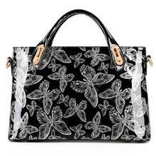 Butterfly Patent Leather Shoulder Vintage Handbag Women luxury brands Messenger Bag Designer Handbags High Quality