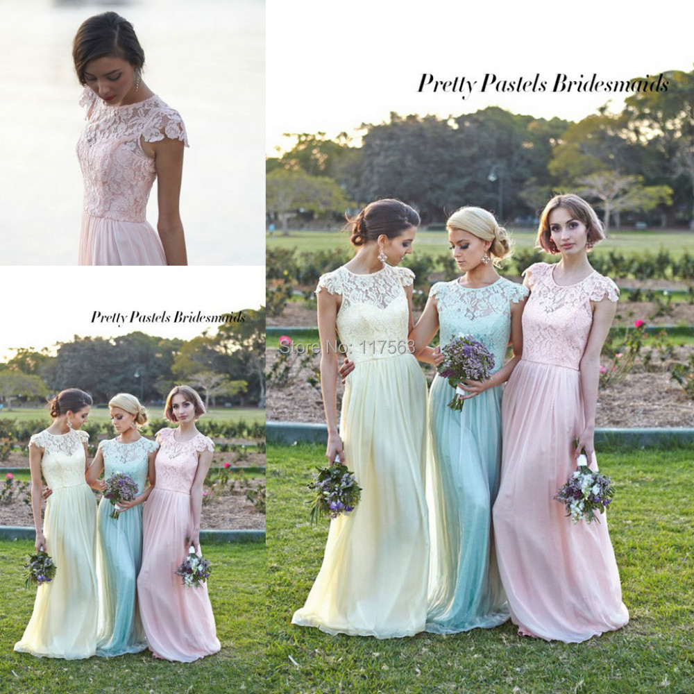 Long pastel bridesmaid dresses dress images long pastel bridesmaid dresses ombrellifo Image collections
