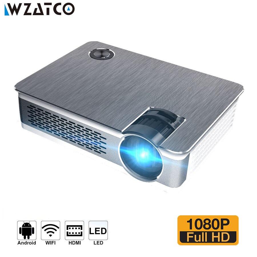 WZATCO CT580 Android 7.1 Full HD LED Projecteur 3800 Lumen Home Cinéma Portable Réel 1080 p Haute Résolution Projecteur LED proyector