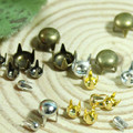 Doll diy accessories  2-6mm mini claws clasp round 4-color copper does not rust 90pcs / lot