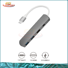 4 in 1 USB Type C Hub with 1 4K HDMI Port and 2 USB 3.0 Ports for MacBook USB Type C Adapter Hub new usb 3 0 2 ports usb 3 1 type c front panel usb hub with 20 pin connector adapter cable em88