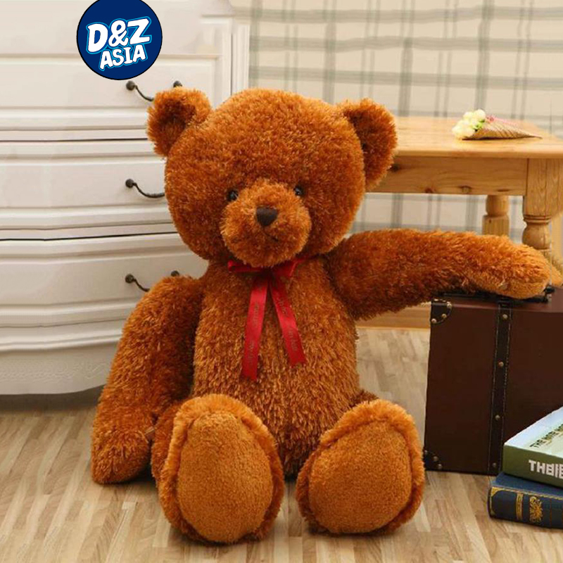 oversized teddy bears giant stuffed animal bed brown bear plush toy bear shy bear ribbons dolls. Black Bedroom Furniture Sets. Home Design Ideas