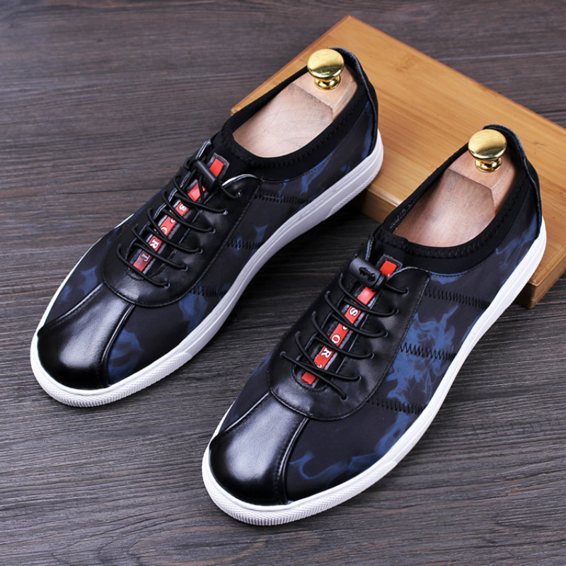 ФОТО Tidog Breathable leather shoes slip-on spring casual loafer shoes