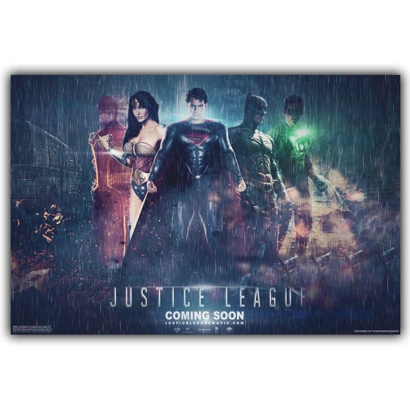 Justice League Batman Superman Wonder Woman Super Hero Art Silk Poster Print 30x45cm 50x75cm Movie Pictures Living Room Decor