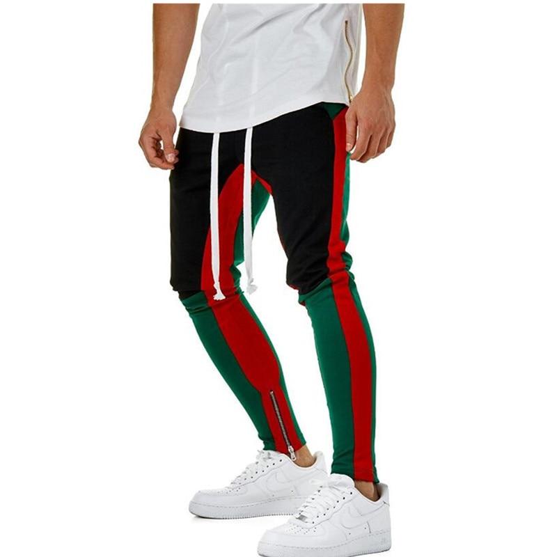100% QualitäT Heiße Art Männer Genäht Zipper Bleistift Hosen Slacks Straße Jogger Track Hosen Elastische Taille Baumwolle Hip Hop Hosen Männer Durchblutung Aktivieren Und Sehnen Und Knochen StäRken
