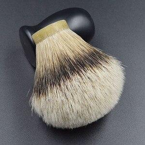 Image 4 - 26mm/67 meilleur silvertip blaireau cheveux hommes barbe brosse tête rasage brosse noeud pour 26mm poignée