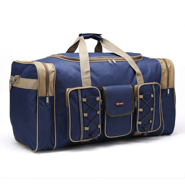 2016 cremallera portátil del viaje del equipaje bolsas femeninas o masculinas extra grande estupendo de la capacidad de tamaño 65 * 35 * 30 cm nylon tote bolso bandolera