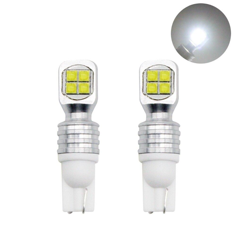 YIJINSHENG 2pcs Car modification High Power 40W T10 LED Reverse BulbClearance Light 161 Tail Lamp 12V Brake Light Backup Bulbs