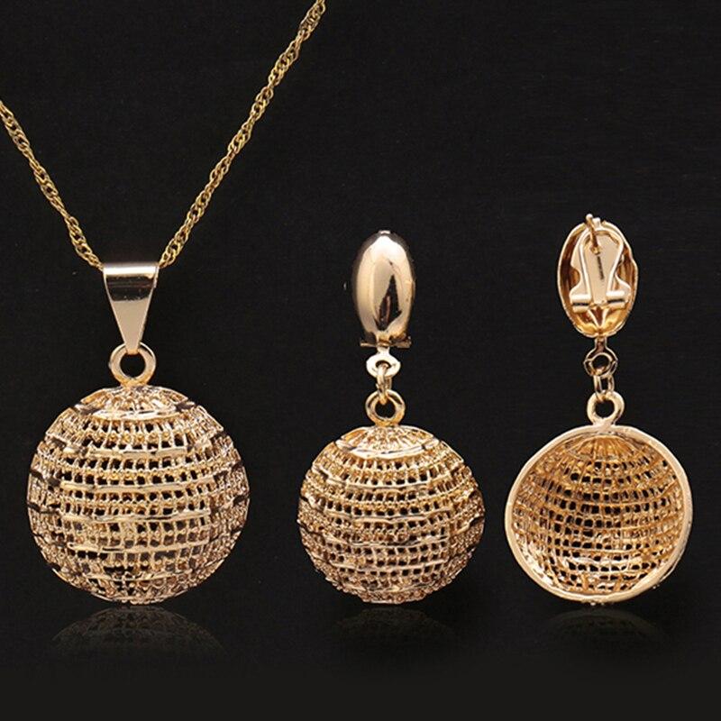 2018 India Jewelry Dubai Gold Jewelry Women Fashion: Fashion Jewelry 2018 Women's Earrings Pendant Necklace